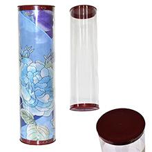 Тубус из пластика с литиевыми крышками (арт.ТП-01) Цена за шт. – 124 руб.