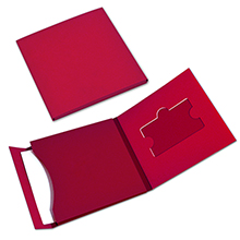 Картонный кард-пак с карманом для пластиковой карты и буклета