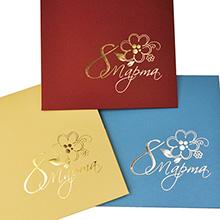Тиснение по подарочным конвертам