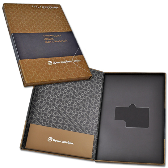 Индивидуальная упаковка под банковскую карту и буклет