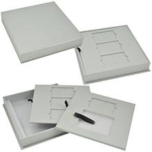 Многоуровневая упаковка под карты, каталог и буклет