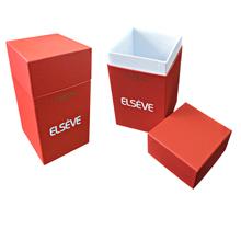 Коробочка крышка-дно с логотипом под образцы косметики