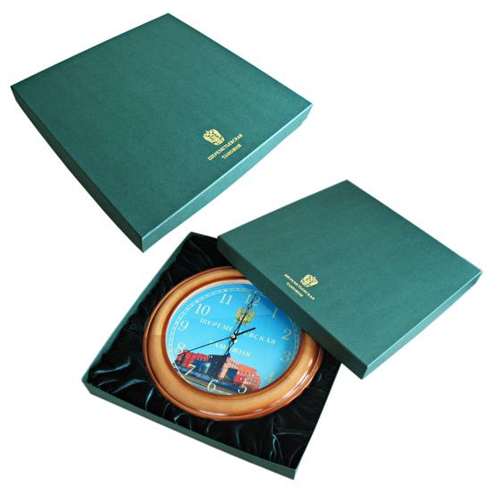 Короб крышка-дно с бархатным ложементом под настенные часы