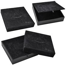 Многоярусная подарочная коробка с логотипом под карту и буклет