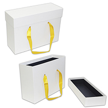 Вертикальная коробка крышка-дно с ручками