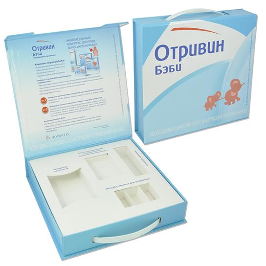 Коробка-чемодан с пластиковой ручкой для промо-акции
