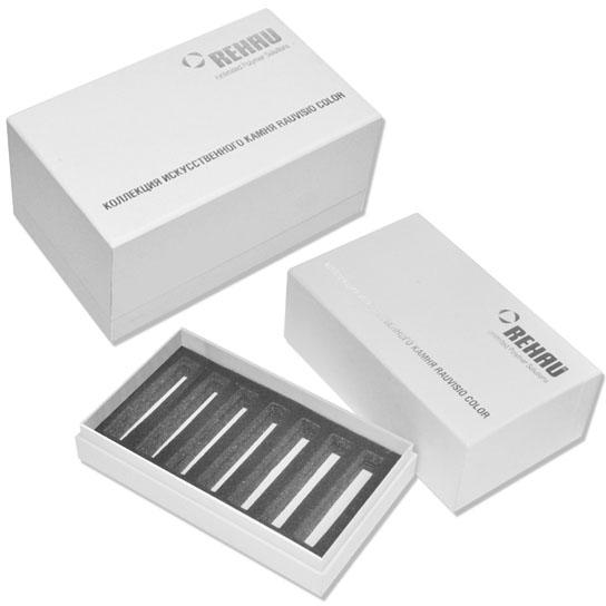 Коробка крышка-дно для образцов материала