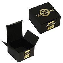 Картонная коробка с логотипом под одну банку икры