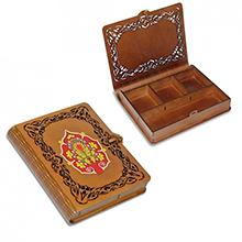 Деревянная книга-шкатулка тонированная