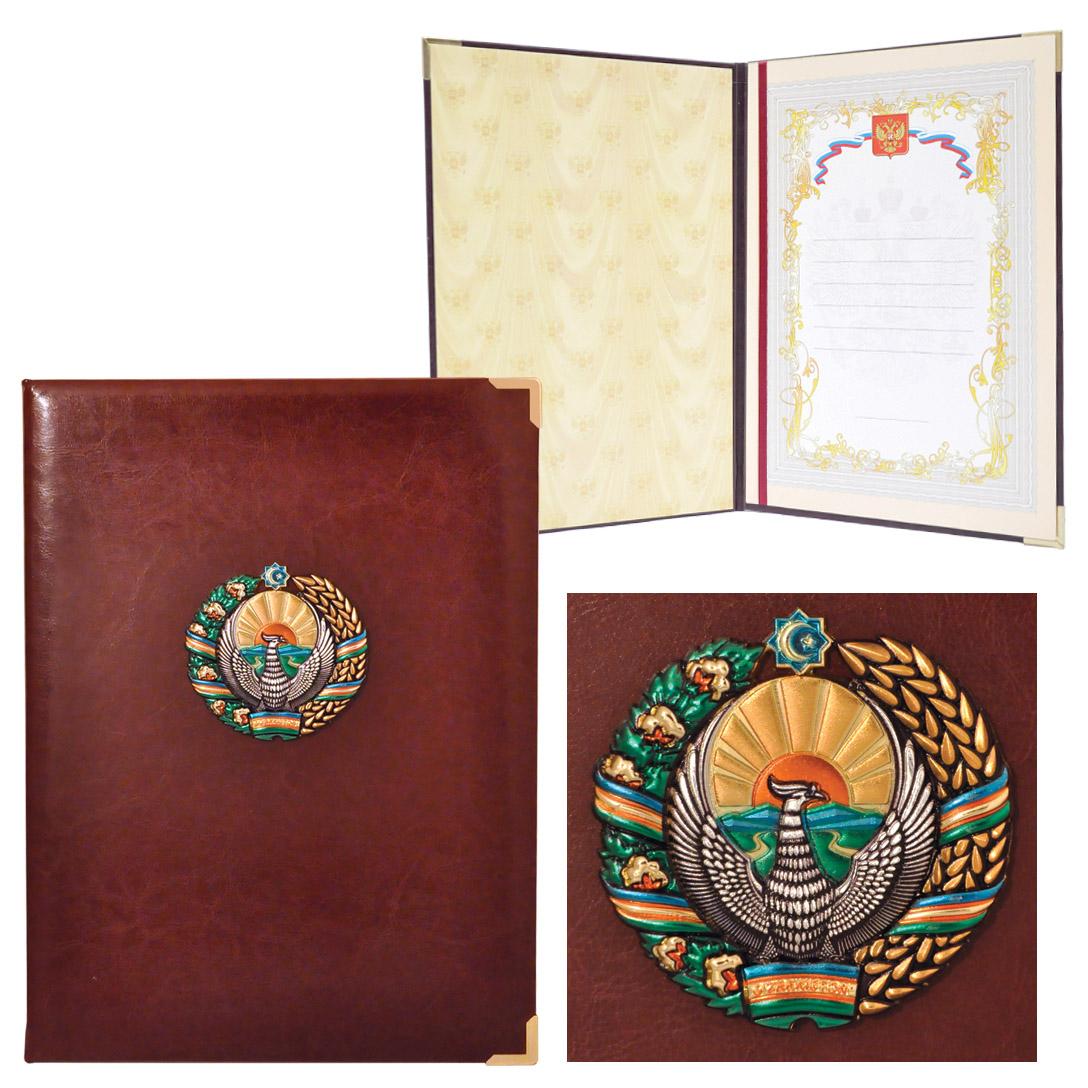Папка представительская в гербом республики Узбекистан