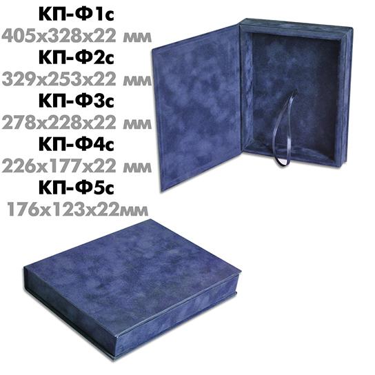 Футляр под плакетку (флокированный, синий)