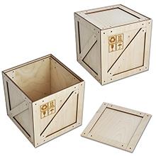 Коробка-ящик (большая) 125х125х127мм. арт.КПП-8б