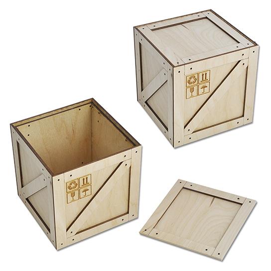 Коробка-ящик (средняя) 112х112х115 мм. арт. КПП-8с