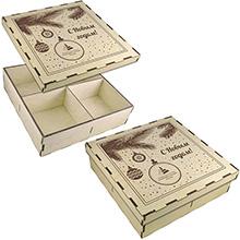 Подарочная коробка крышка-дно из фанеры