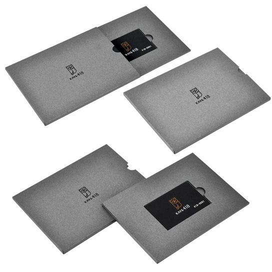 Коробка-пенал из дизайнерского картона