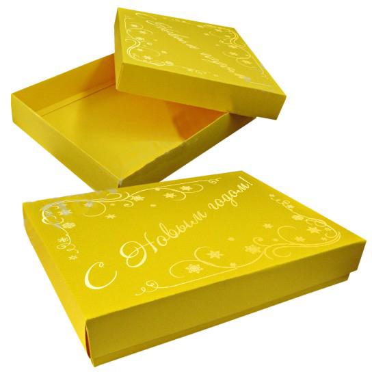 Самосборная коробка крышка-дно из дизайнерского картона