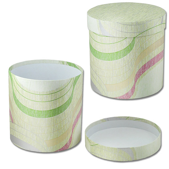 Круглая коробка для цветов (арт. КДЦ-02/1) Цена за шт – 162 руб