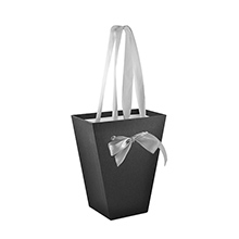 Черная коробка для цветов (арт. КДЦЛ-03/3-3)