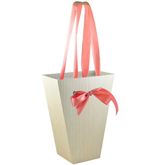 Коробка в виде трапеции для цветов (большая)
