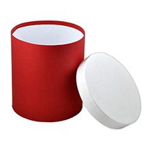 Круглая двухцветная коробка с крышкой