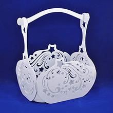 Декоративная корзина для цветов, большая (арт.КДЦ-04)