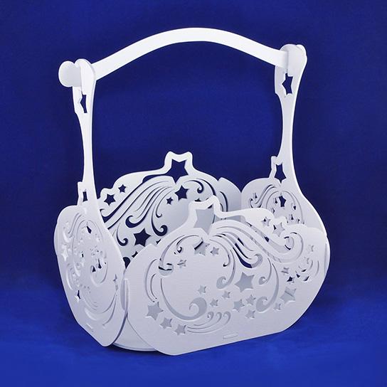 Большая декоративная корзина из фанеры