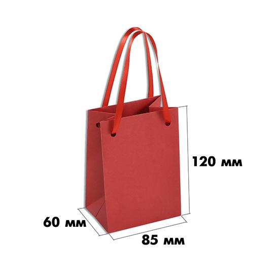 Пакет из дизайнерской бумаги (размер 85х60х120 мм) арт.ГПП-01