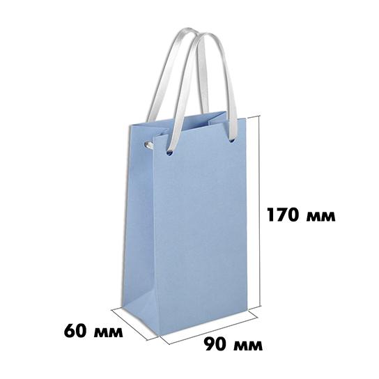 Подарочный пакет из бумаги (размер 90х60х170 мм) арт.ГПП-02