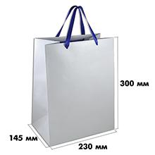 Широкий белый пакет из бумаги (размер 230х145х300 мм) арт.ГПП-04