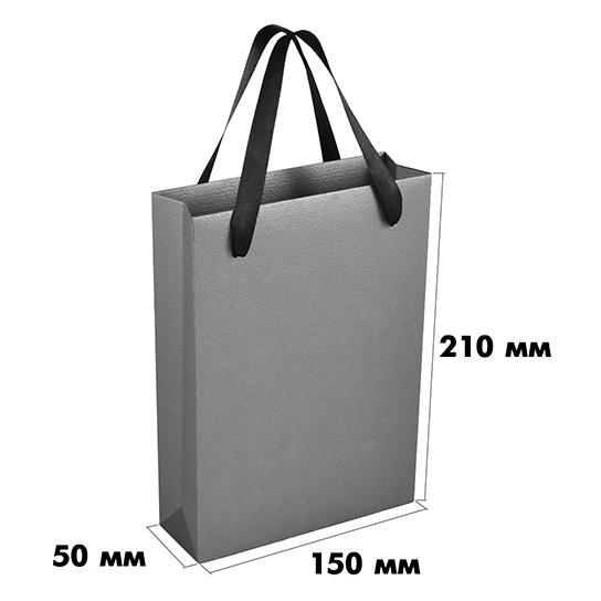 Пакет из дизайнерского картона (размер 150х50х210 мм) арт.ГПП-07