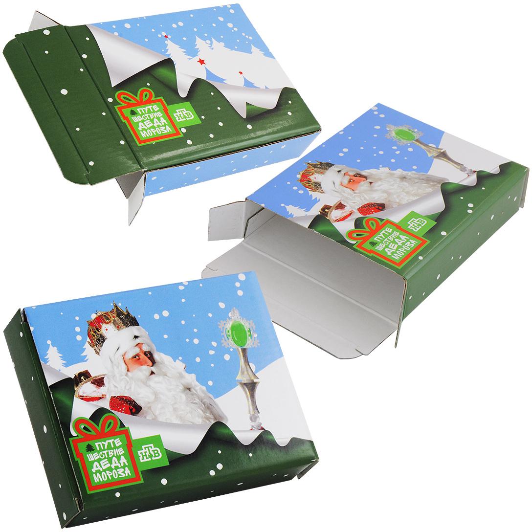 Коробка для фирменного детского новогоднего подарка