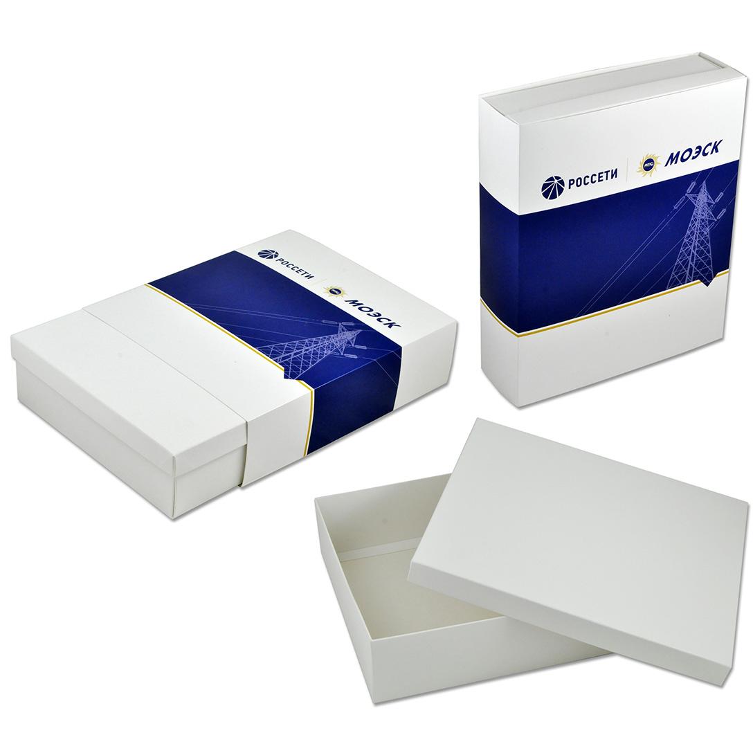 Коробка крышка-дно из дизайнерского картона с шубером и с полноцветной печатью