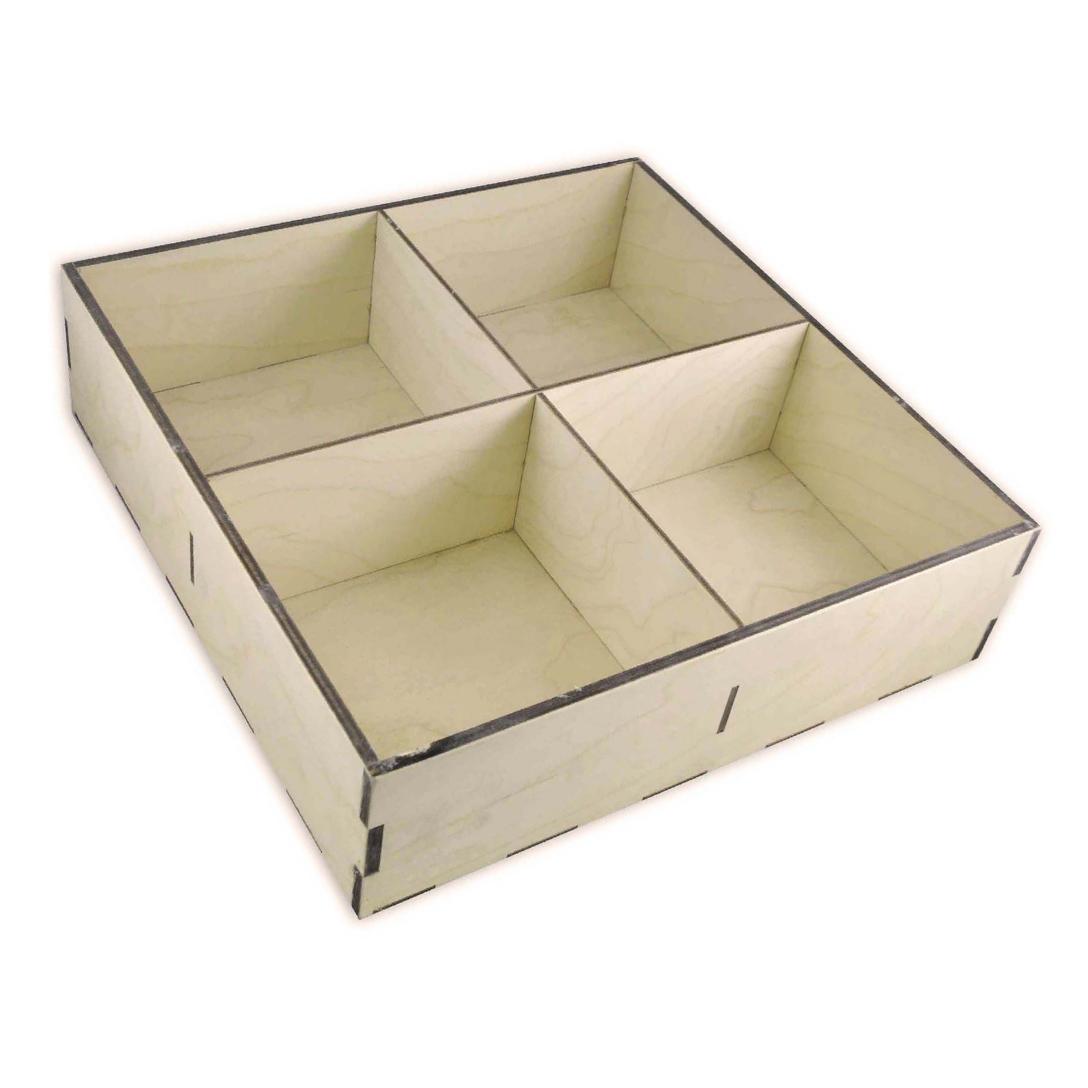 Фанерный ящик с ячейками