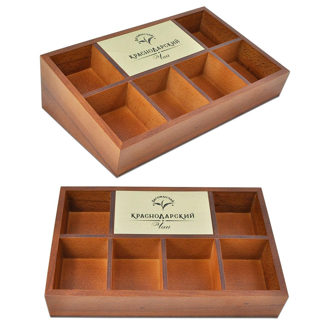 Коробка для шести разных видов чайных пакетиков