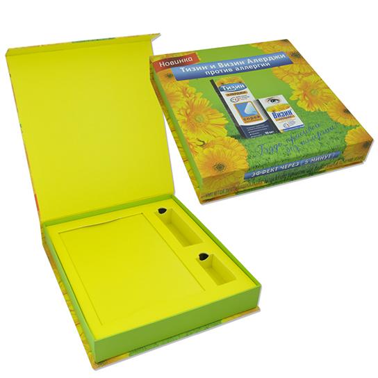Коробка с клапаном на магните для образцов фармпродукции
