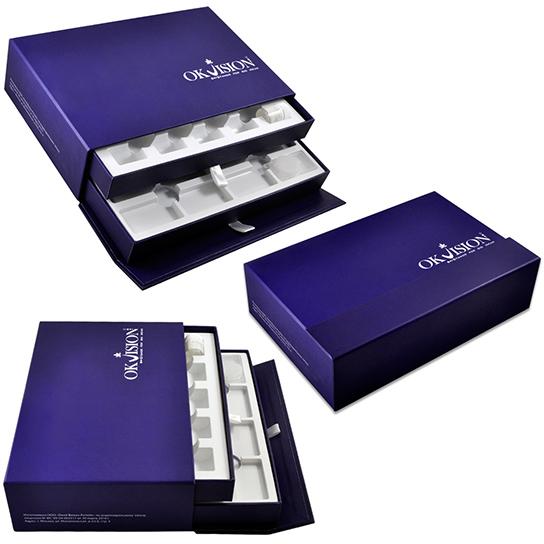 Двухярусная коробка для образцов контактных линз