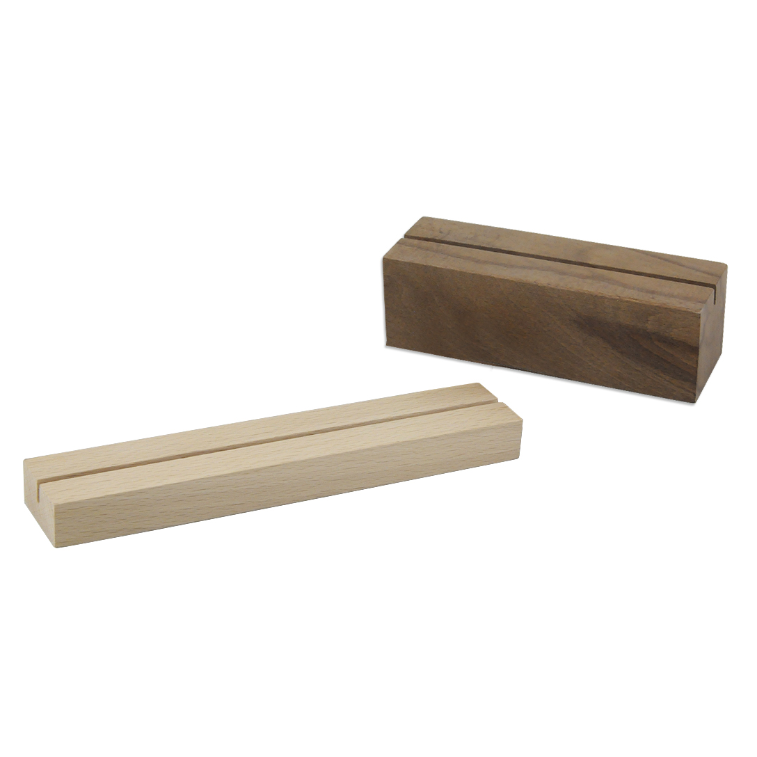 Подставка под настольное меню на деревянной основе