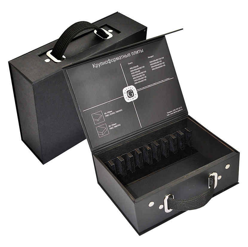 Коробка-чемодан для презентации образцов продукции