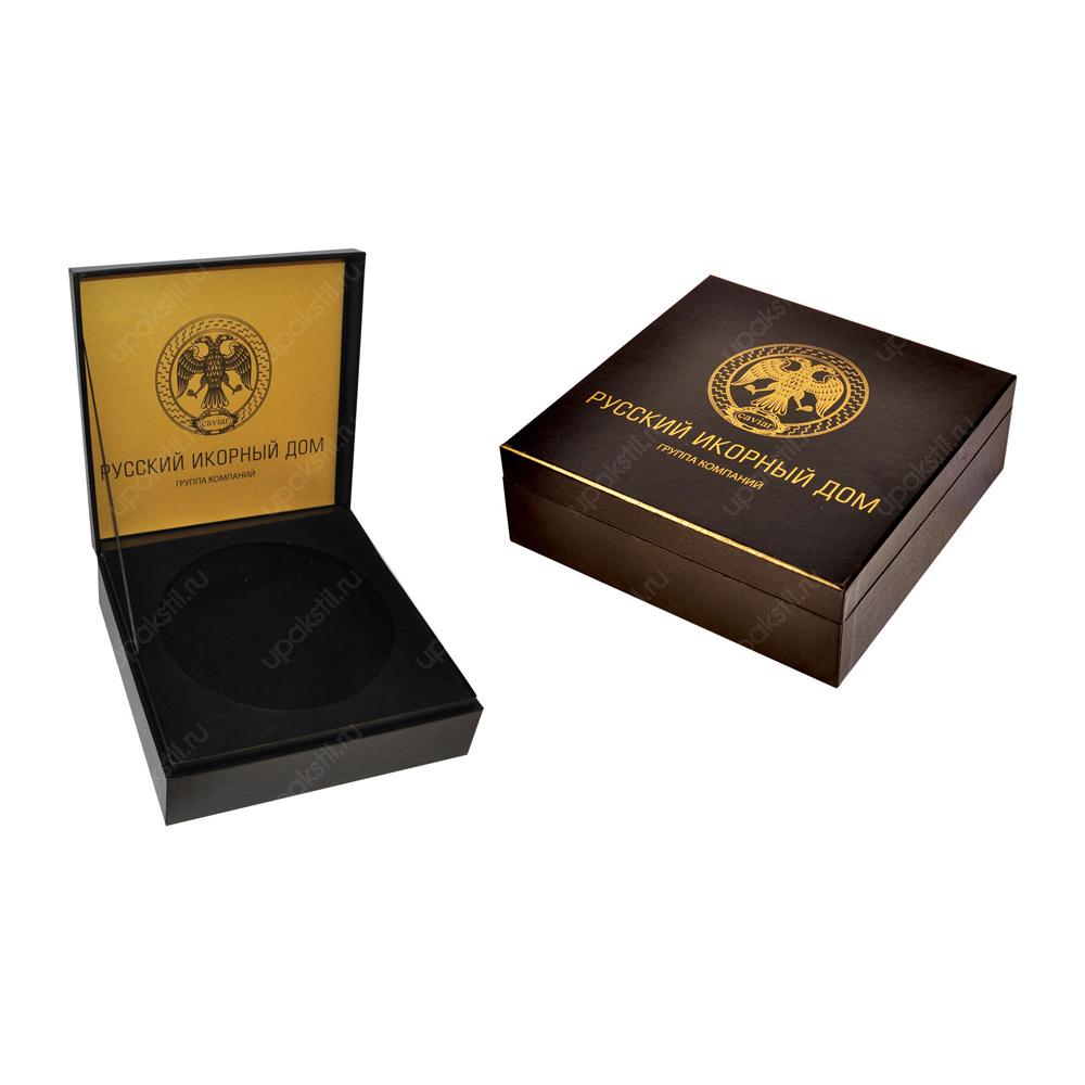 Фирменная подарочная коробка под банку икры
