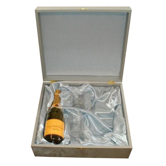 Подарочный футляр для шампанского и бокалов