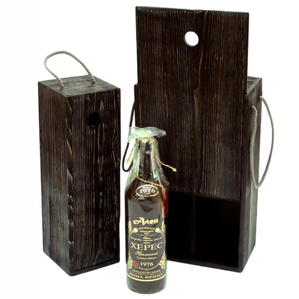 Подарочный деревянный пенал для вина