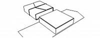 коробка-конверт из кожи на шнурках (В06)