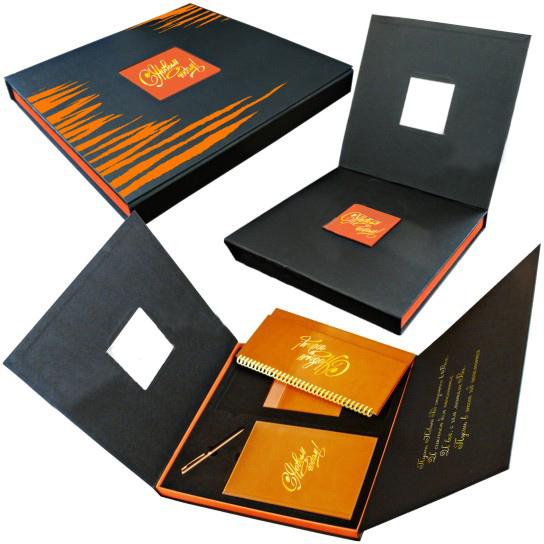 Подарочная коробка с картонным замком на 4 предмета