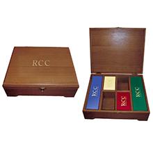 Подарочная деревянная коробка для чая