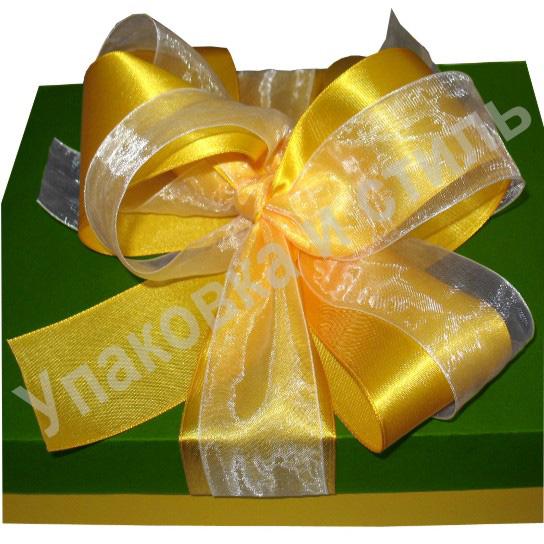 Бант для подарочной коробки