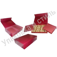 Подарочный картонный футляр под конфеты (два уровня)
