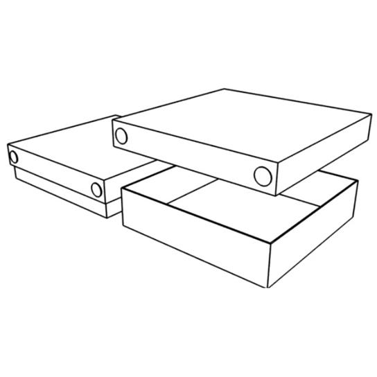 Подарочная стандартная коробка (крышка-дно) с прозрачной крышкой (A04)