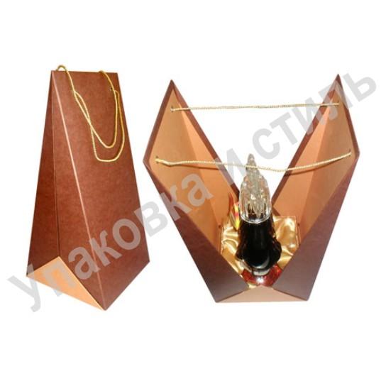 Подарочный картонный футляр под коньяк