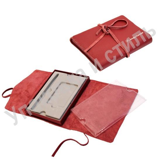 Кожаный футляр для подарочного набора