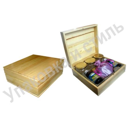Подарочный деревянный футляр из сосны под мед